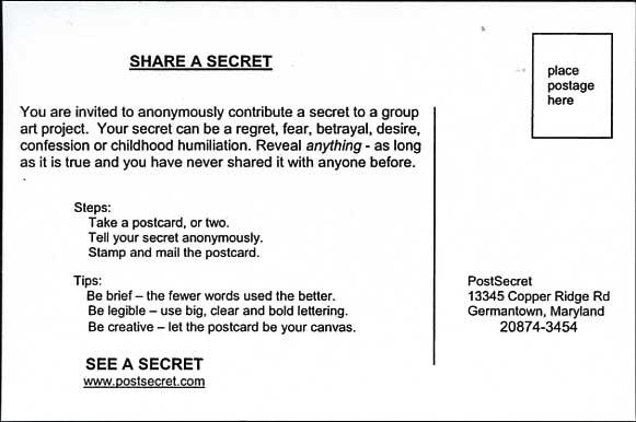 Postsecret - Essay Example