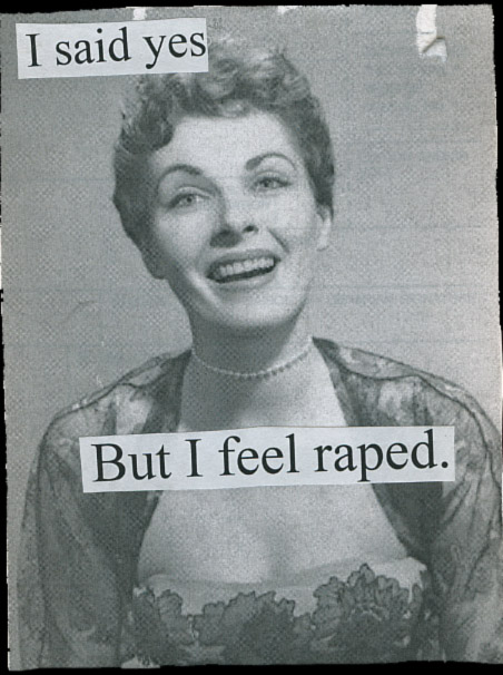 PostSecret: I said yes. But I feel raped.